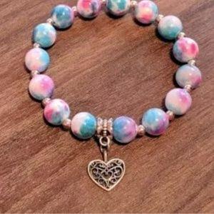 Cute Multi colored Heart bracelet